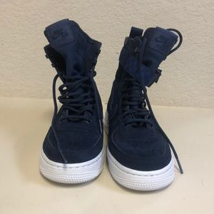 Nike SF-AF1 High Air Force 1 Midnight Navy Shoes